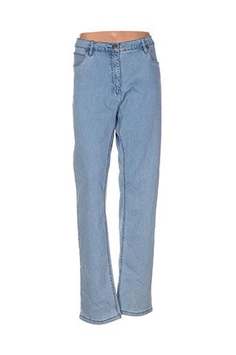 intown jeans femme de couleur bleu