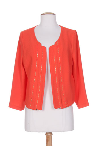 femmes je vous aime vestes femme de couleur orange