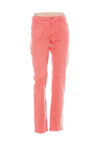 lcdn pantalons femme de couleur orange