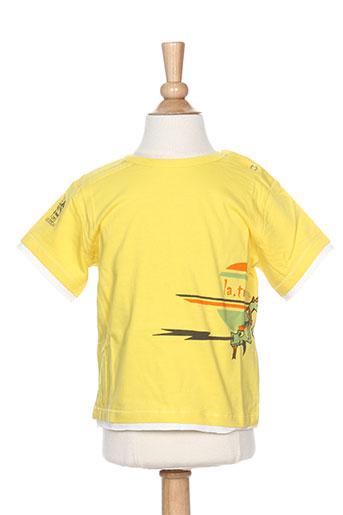 T-shirt manches courtes jaune LA TRIBBU pour garçon