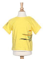 T-shirt manches courtes jaune LA TRIBBU pour garçon seconde vue