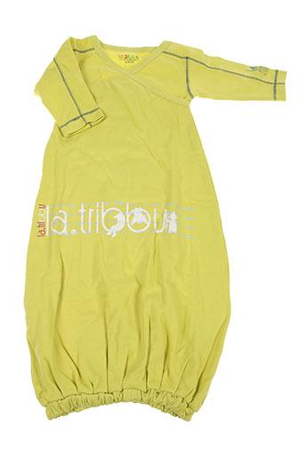 la tribbu robes fille de couleur vert