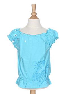 T-shirt manches courtes bleu LA TRIBBU pour fille
