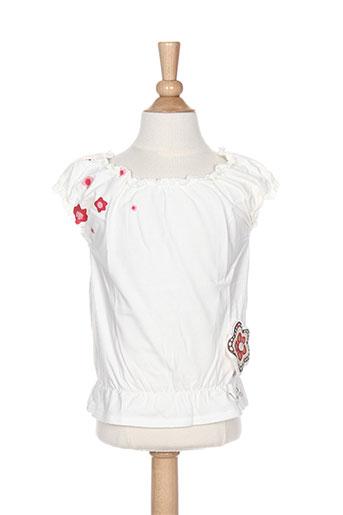 T-shirt manches courtes blanc LA TRIBBU pour fille