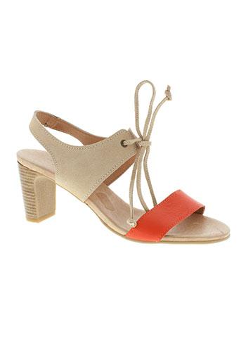 mkd chaussures femme de couleur orange