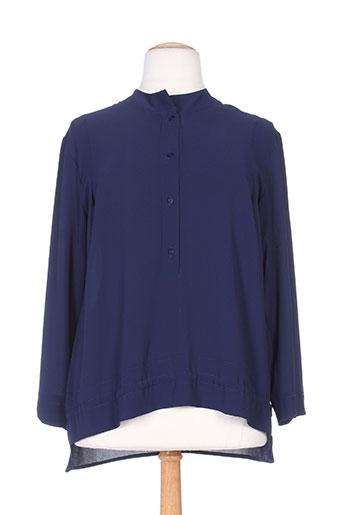 kakie chemises femme de couleur bleu