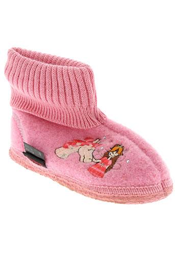 giesswein chaussures fille de couleur rose