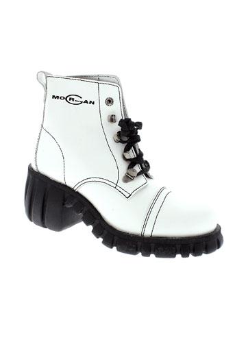 morgan boots femme de couleur blanc