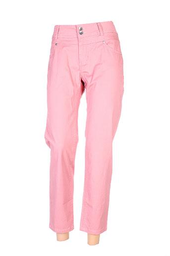 jensen pantacourts femme de couleur rose