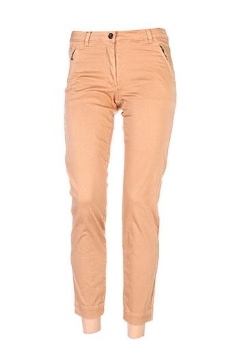 Pantalon 7/8 marron THALASSA pour femme