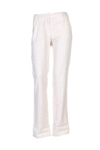 Pantalon casual beige THALASSA pour femme