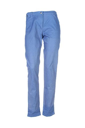 Pantalon casual bleu THALASSA pour femme
