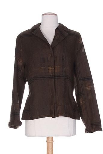 olivier strelli vestes femme de couleur marron