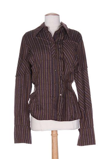 dp jeans chemises femme de couleur violet