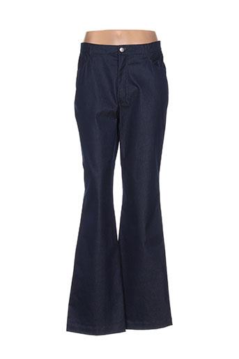 olivier strelli pantalons femme de couleur bleu