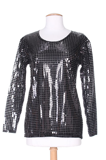T-shirt manches longues noir ENZO BELLI pour femme