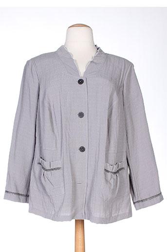 telmail vestes femme de couleur gris