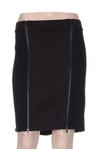 Jupe mi-longue noir POUSSIERE D'ETOLE pour femme