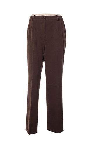 oscar b pantalons femme de couleur marron