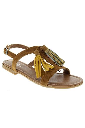 reqins sandales et nu et pieds femme de couleur marron