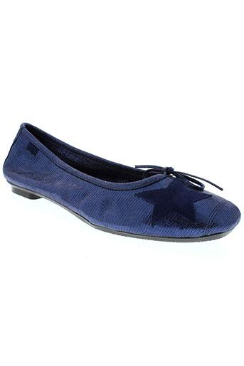 reqins ballerines femme de couleur bleu