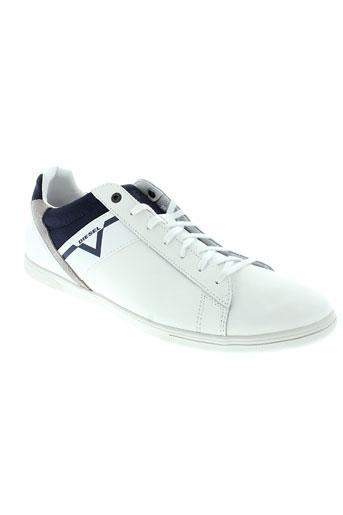 diesel chaussures homme de couleur blanc