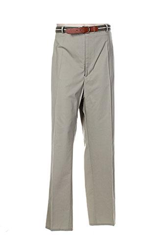 griffe noire pantalons homme de couleur vert