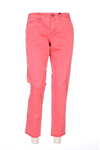 guess pantalons femme de couleur rouge