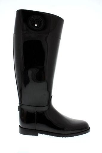 armani bottes femme de couleur noir
