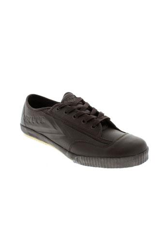 feiyue chaussures homme de couleur marron