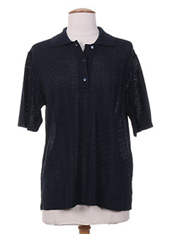Pull col chemisier bleu ELEANE pour femme