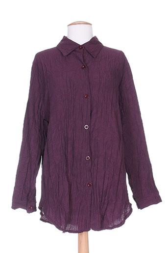 vetistyle chemises femme de couleur violet
