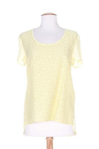 mila cento chemises femme de couleur jaune