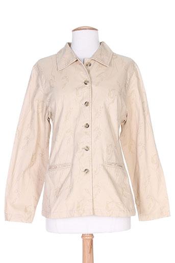 setrak vestes femme de couleur beige