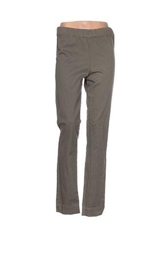 an ii vito pantalons femme de couleur vert