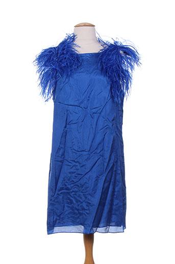 Robe courte bleu CHARABIA pour femme