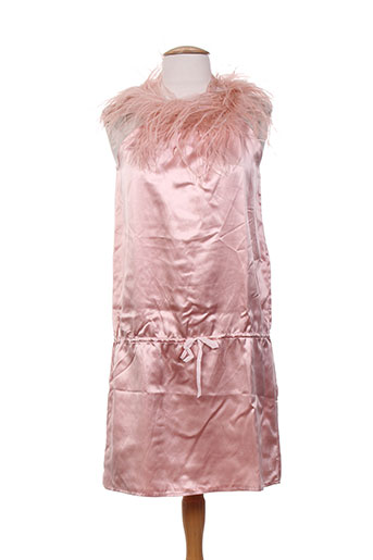 Robe courte rose CHARABIA pour femme