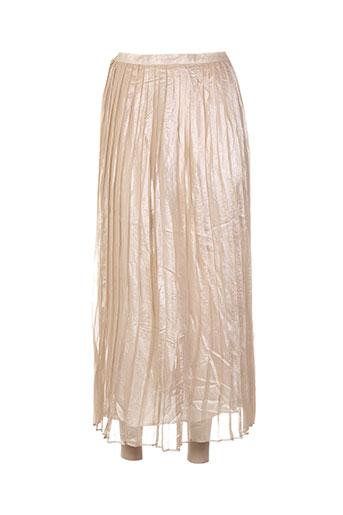 Jupe longue beige CHARABIA pour femme