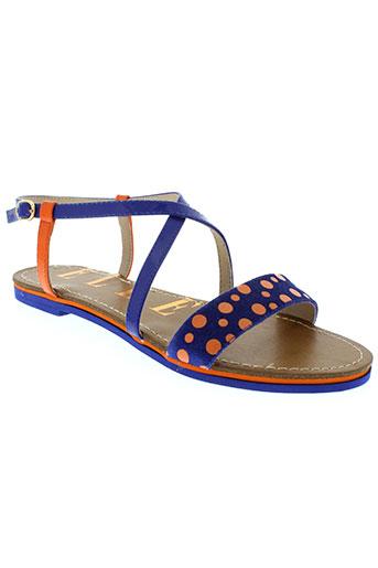 elle sandales et nu et pieds femme de couleur bleu