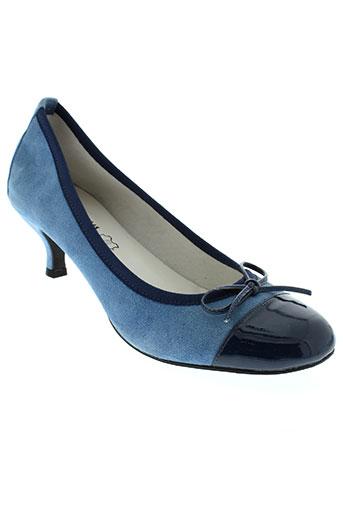johann chaussures femme de couleur bleu