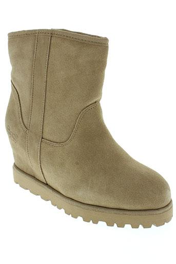 booroo chaussures femme de couleur beige