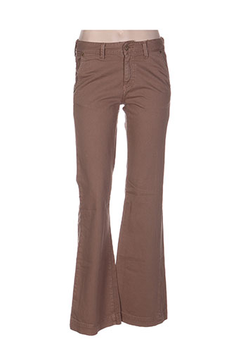 acquaverde jeans femme de couleur marron