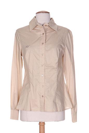 aquajeans chemises femme de couleur beige