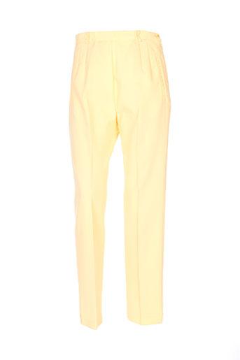 intuition pantalons femme de couleur jaune