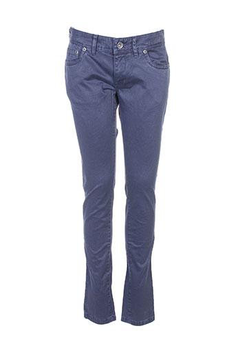 couturist pantalons femme de couleur bleu