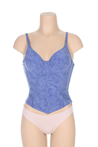 sariana lingerie femme de couleur bleu