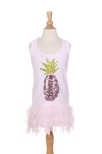 elisabeth puig robes fille de couleur rose