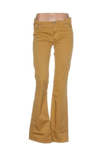 please pantalons femme de couleur jaune