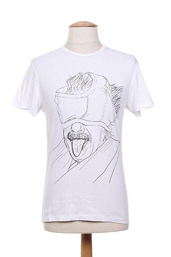 french kick t-shirts homme de couleur blanc