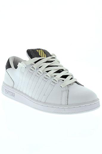 k.swiss chaussures femme de couleur blanc